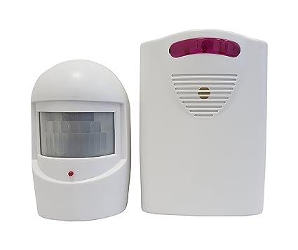maxworks 70899 inalámbrico Long Range sensor de movimiento de seguridad con base de casa alta/