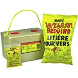 Magic Bait 1000 Worm Farm with Bedding and Food Storage Box, Yellow