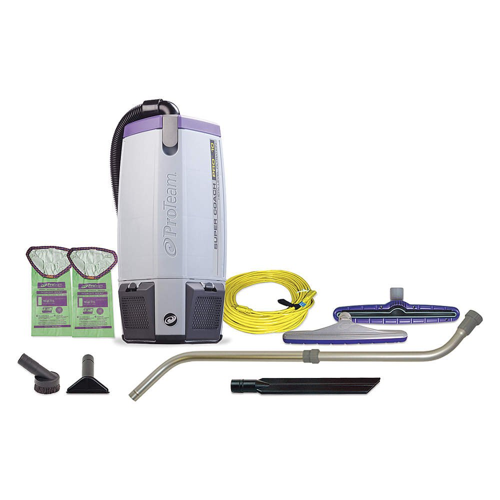 ProTeam 107303 SuperCoach Vacum, Commercial-Grade Proteam Super Coach Pro 10 Vacuum with 107100 Toolkit