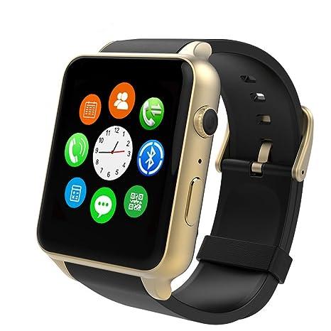 GT88 Reloj inteligente Bluetooth pulsómetro reloj de pulsera impermeable pantalla táctil HD cámara TF tarjeta podómetro