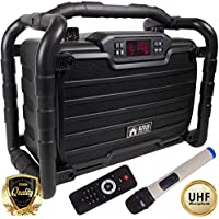 EMB Home PKL490BK PK1 300W Power Box Jobsite Bluetooth Stereo Rechargeable Speaker - Water Splash Proof/Shockproof/Dustproof - Perfect for Construction Site/Beach/DJ Party/Shop/Home/Camp