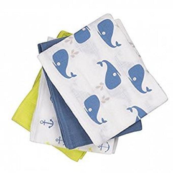 Pippi Baby Pañales de tela Gasas para Vómitos paños 4 pieza 3822 en 730 (Multicolor) 730 (Mehrfarbig) 70 cm x 70 cm: Amazon.es: Ropa y accesorios
