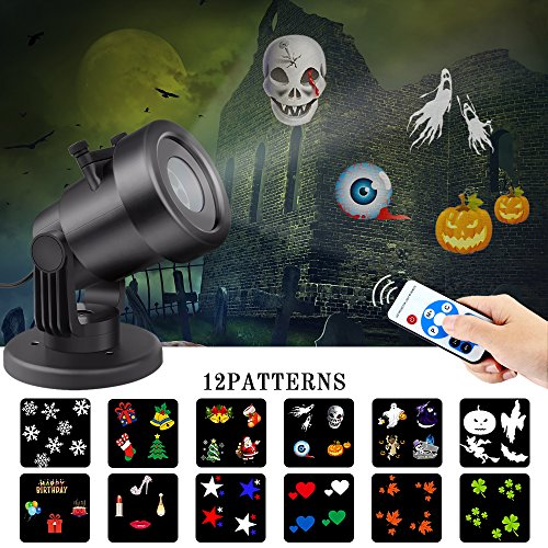 Christmas Decorations Led Light Projector Outdoor Laser Projector Lights with Remote Control Landscape Lighting Show for Festival, Theme Party, Halloween, Xmas Decorate of House Garden (Decorate For Halloween Party)