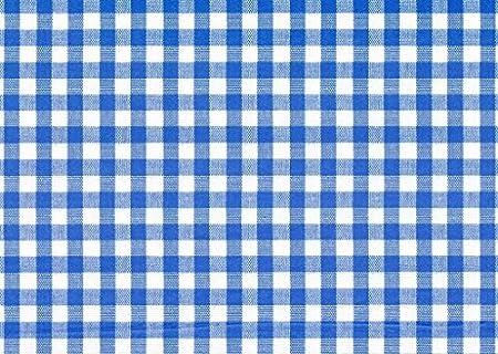 """1/"""" Vichy Bleu carreaux Vinyle PVC Toile Cirée Facile à Nettoyer Nappe Cliquez Pour Tailles"""