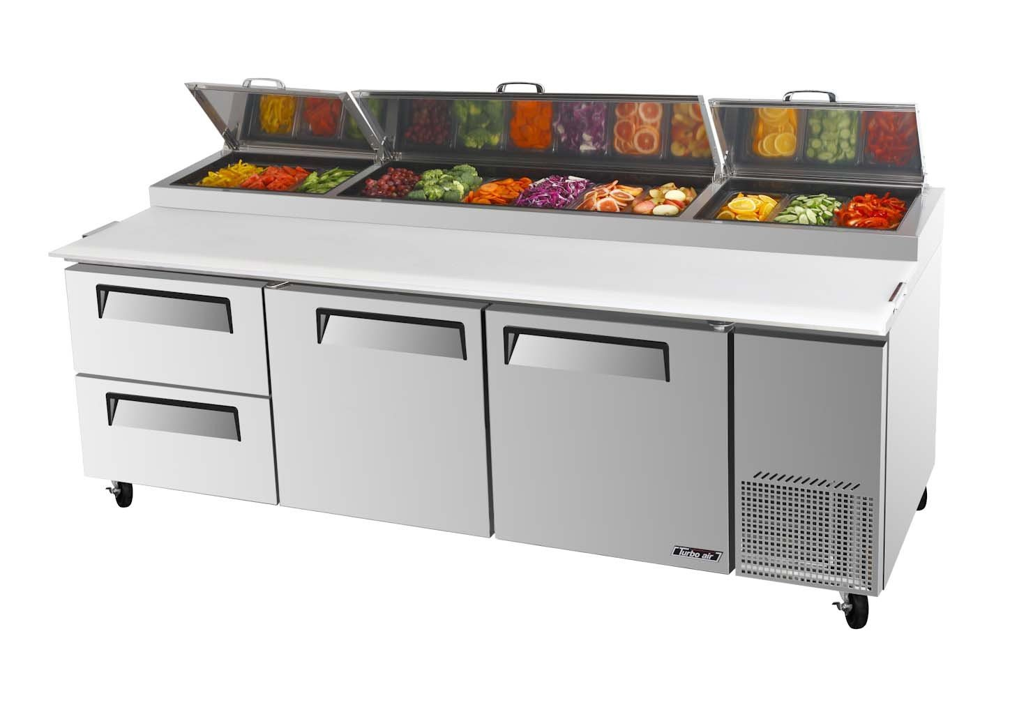 Amazon.com: Turbo Air TPR-93SD-D2 2 Drawer Pizza Preparation Table: Industrial & Scientific