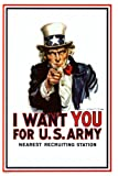 I Want You - Uncle Sam Poster Poster Print, 36x24