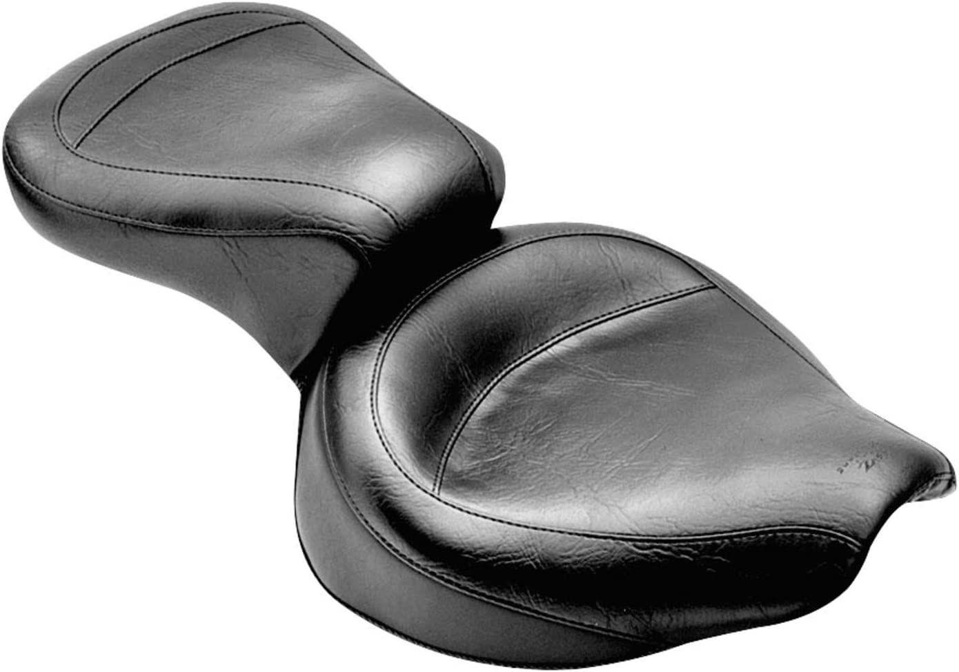 Mustang Motorcycle Seats One-Piece Skirted Seat with Studs