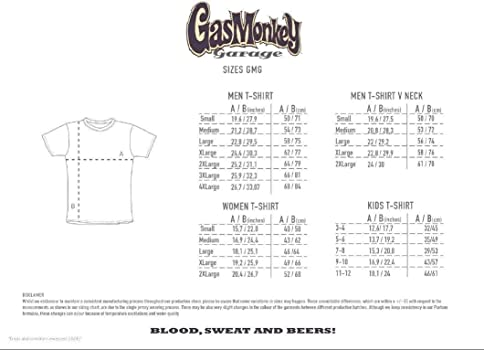 Gas Monkey Garage T-Shirt Nation Black-S: Amazon.es: Ropa y accesorios