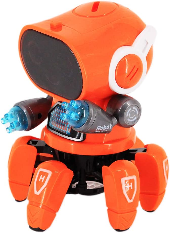 Naimo Automatic Dancing Hexapod Robot with Music and Light for Children