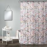 Lush Decor Pixie Fox 72' x 72' Shower Curtain, Gray