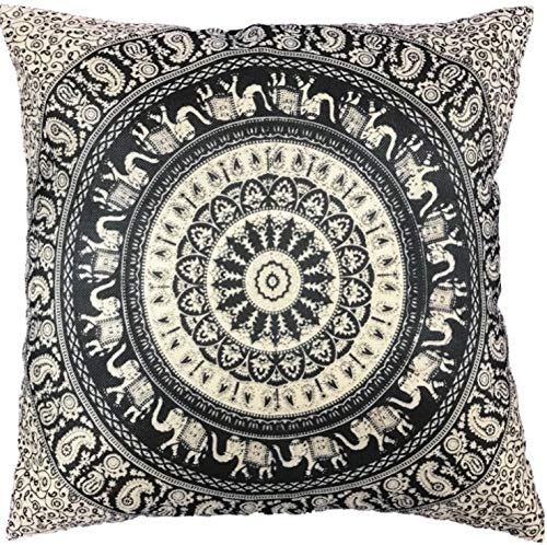 Original Kikan - Funda de cojín Indio con diseño de Mandala ...