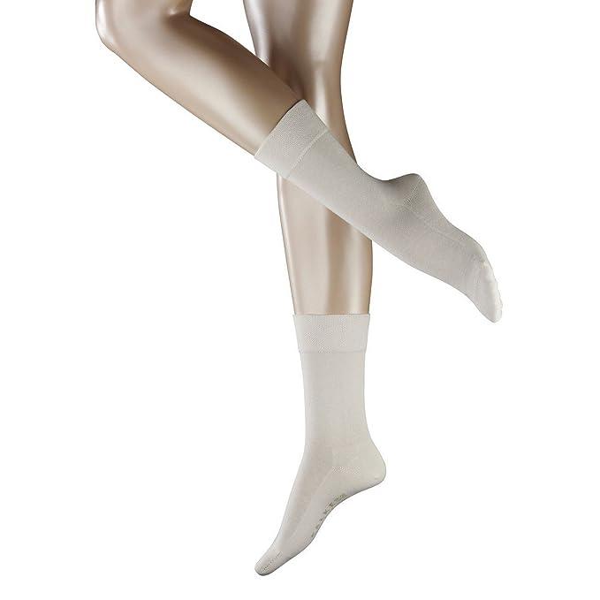 FALKE - Calcetines - Básico - para mujer blanco Off White (2049): Amazon.es: Ropa y accesorios