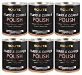 Rolite Brass & Copper Polish (2lb) Instant Polishing & Tarnish Removal on Railings, Elevators, Fixtures, Hotels, Cruise Ships, Office Buildings 6 Pack