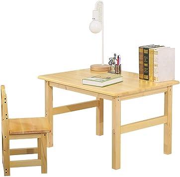 L.Z Mesa de Madera para niños , Juego de sillas Muebles para ...