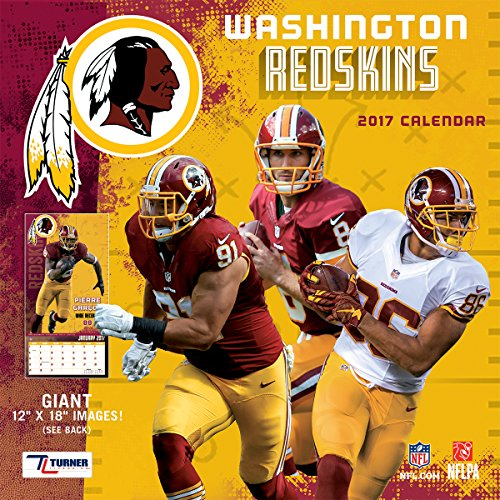 Turner Licensing Sport 2017 Washington Redskins Team Wall Calendar, 12
