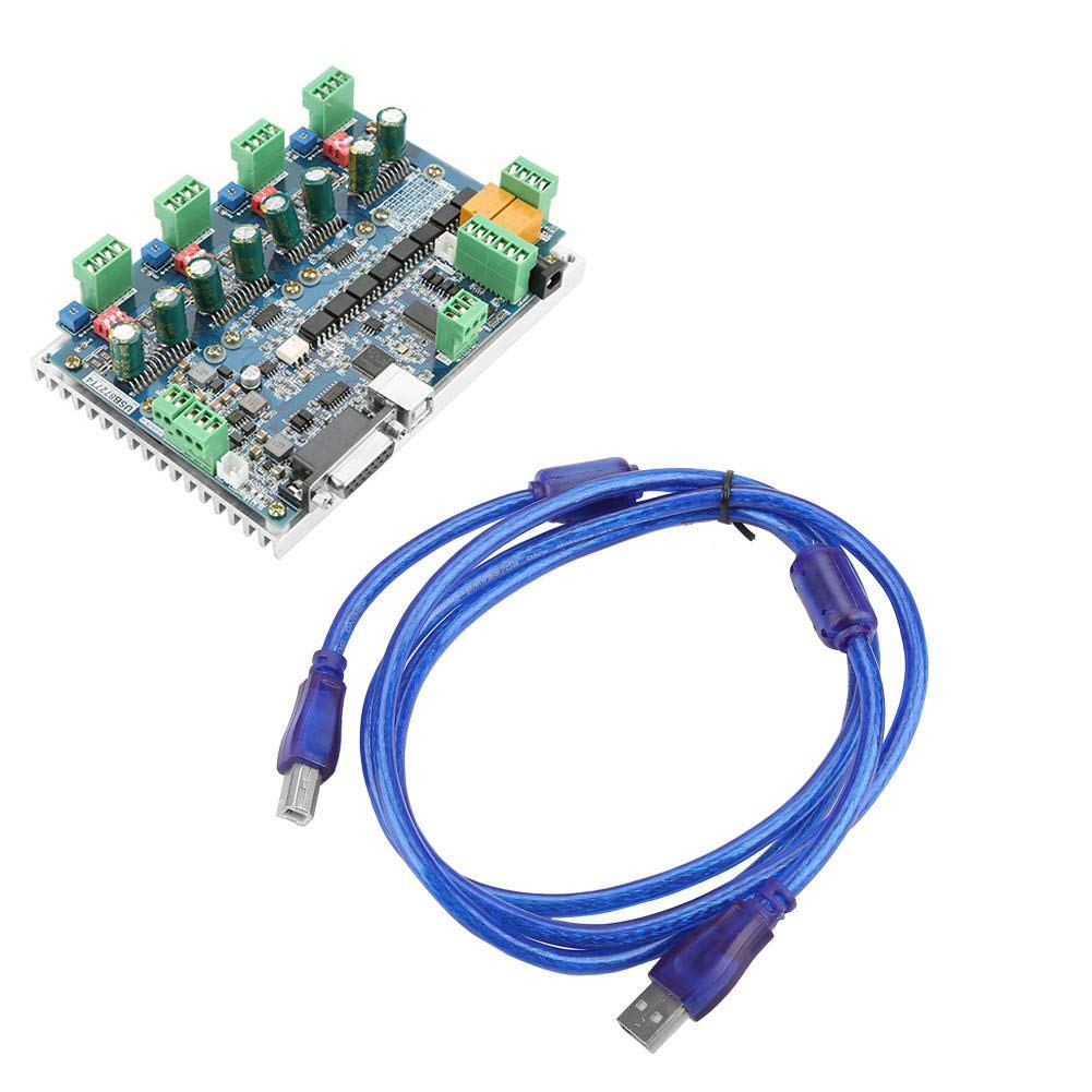 Bipolar Step Motor Bipolar Mill Lathe Router CNC 4 Axis USB Mach3 Universal Electric Motor Interface Board by Wal front