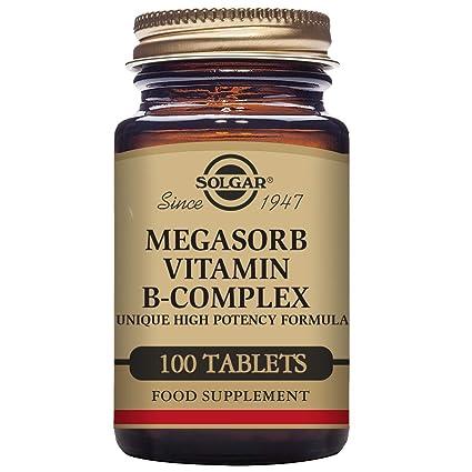 Solgar Megasorb B-Complex Vitaminas - 100 Tabletas
