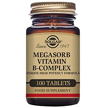 Solgar Megasorb B-Complex Vitaminas - 100 Tabletas: Amazon.es: Salud y cuidado personal