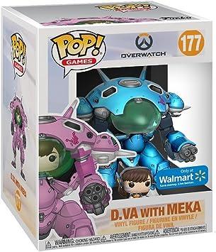 Funko Pop! Overwatch - D.Va with Meka, Blueberry, 15 CM Exclusive: Amazon.es: Juguetes y juegos