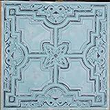 Tin Ceiling tile faux finishes Peeling black bluish PL16 pack of 10pcs