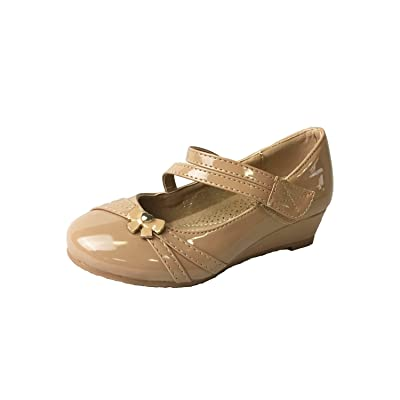 Mila Girls Litte Girls Low Wedges Pumps Shoes (Jodie-2) | Flats