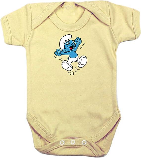 Camisetas EGB Body Bebé Pitufo ochenteras 80Žs Retro: Amazon ...