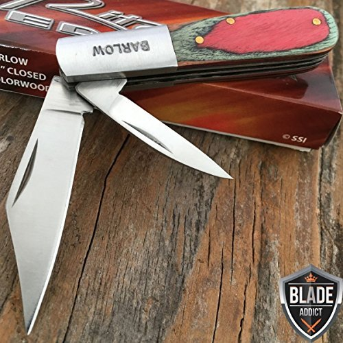 New 3. 5'' BARLOW TWO BLADE PAKKA WOOD TRAPPER FOLDING POCKET EcoGift Nice Knife with Sharp Blade COLLECTIBLE TOOL- Great For Fun And Practical Use