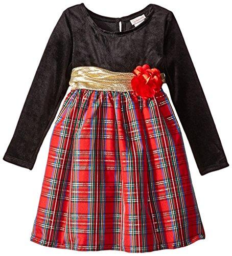 Black Velour Holiday Dress - 5