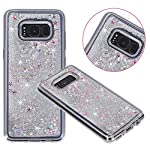 Galaxy S8 Case, VPR Sakura Liquid Quicksand Moving Stars Bling Glitter Floating Dynamic Flowing Love Heart Clear Soft TPU Protective Cover for Samsung Galaxy S8 19 Compatible Model: Samsung Galaxy S8. Material: High quality polycarbonate plastic and quicksand. The case is transparent with liquid inside,which is fashionable ,popular and interesting.