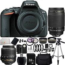 Nikon D5500 DX-format Digital SLR (Black) w/ Nikon AF-S DX NIKKOR 18-55mm f/3.5-5.6G VR Lens - International Version (No Warranty) + MORE