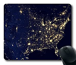 America Space Nice Map Masterpiece Limited Design Oblong Mouse Pad by Cases & Mousepads