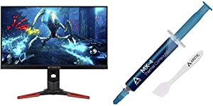 "Acer Predator XB271HU bmiprz 27"" WQHD (2560x1440) NVIDIA G-SYNC IPS Monitor, Black & Arctic MX-4 - Thermal Compound Paste for Coolers 