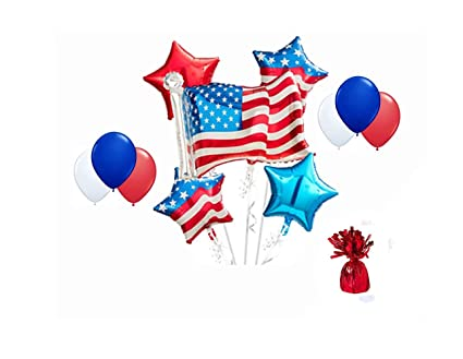 Amazoncom American Flag 4th Of July Balloon Bouquet Toys Games