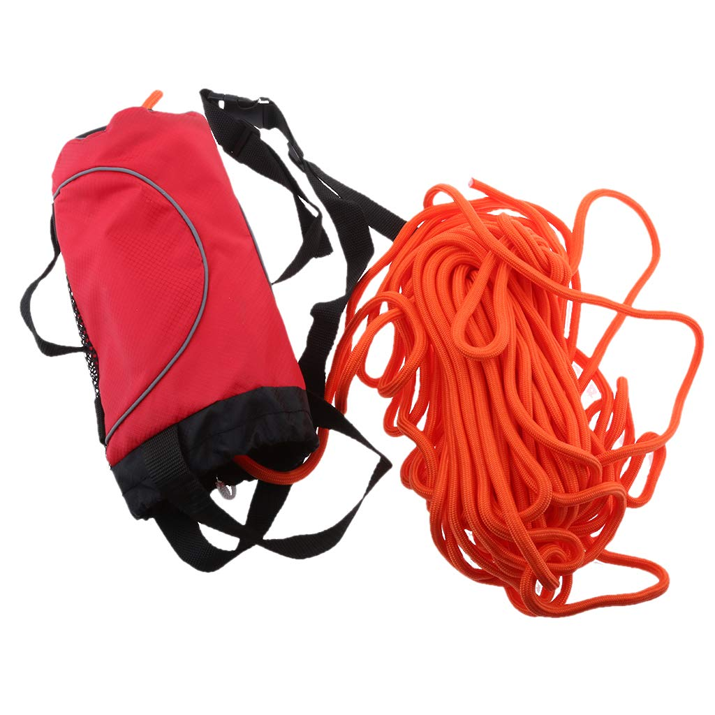 Flameer Red 85ft Safety Water Reflective Rescue Throw Bag Floating Rope Line Kit