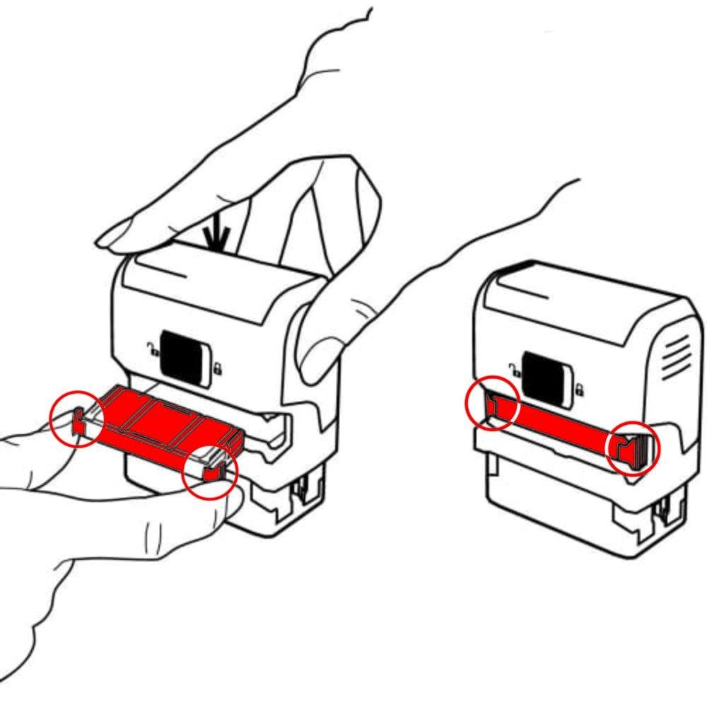 trodat Ersatzstempelkissen 6//4913 gr/ün Doppelpack
