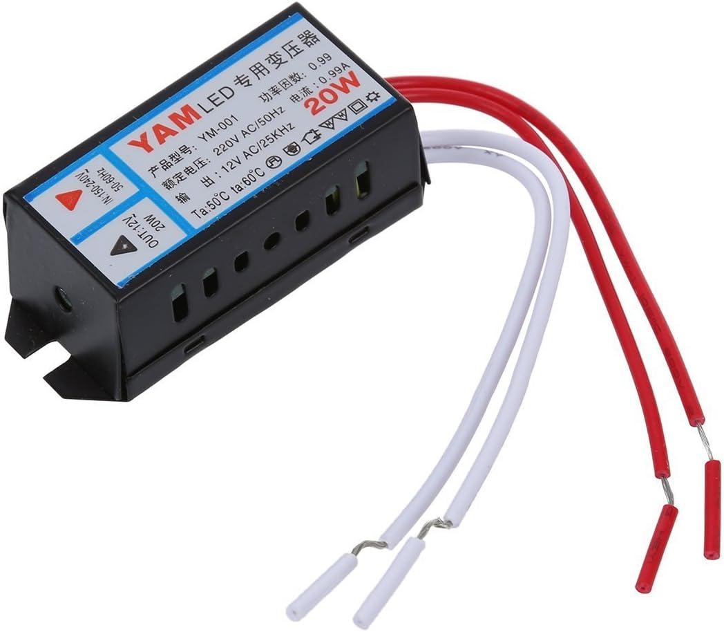 TOOGOO(R) Transformador electronico de AC 220V Entrada 12V 20W Salida LED