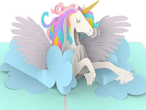 Amazon.com: Liif Magical Unicorn 3D Tarjeta de felicitación ...