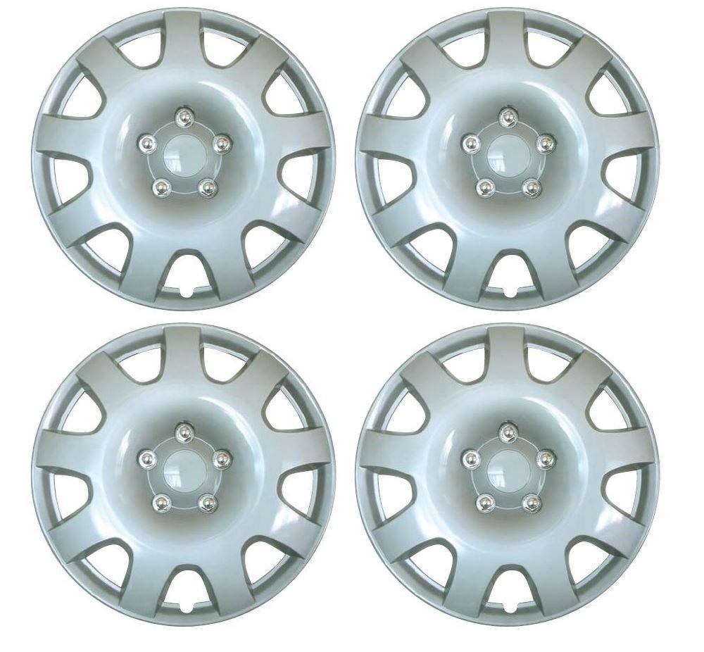 UKB4C Set of 4 15 Silver Wheel Trims//Hub Caps fits Vauxhall Astra H Corsa D