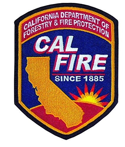 California Department of Forestry & Fire Protection Forest Wildfire Shoulder Patch (IRON-ON) - Size: 3-7/8 X 5