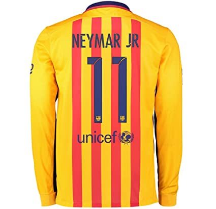453a906b605 Nike NEYMAR JR  11 Barcelona Away Long Sleeve Jersey 2015-16 (Authentic name