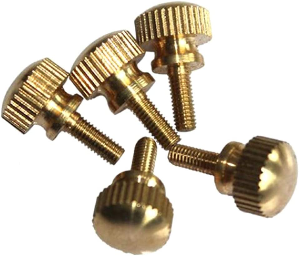 M5 M6 Messing Hand Twist Schraube Messing Kopf Schritt Schraube handfest anziehen R/ändelschrauben M5 10Pcs 16mm