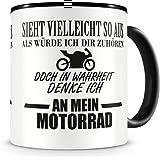 plot4u Ich denke an mein Motorrad Tasse Kaffeetasse Teetasse Kaffeepott Kaffeebecher Becher