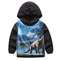 Garsumiss Baby Boys Zip Up Hoodie Dinosaur Sweatshirt Coat Jacket Zipper Tops
