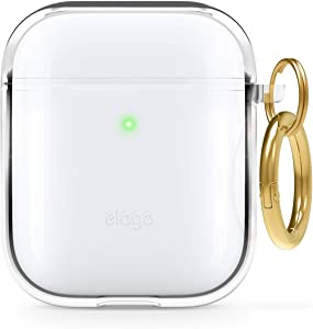 elago Clear Airpods Case with Keychain Designed for Apple Airpods 1 & 2 (Transparent)