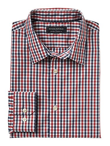 banana-republic-mens-non-iron-standard-fit-button-down-shirt-large-red-blue-check