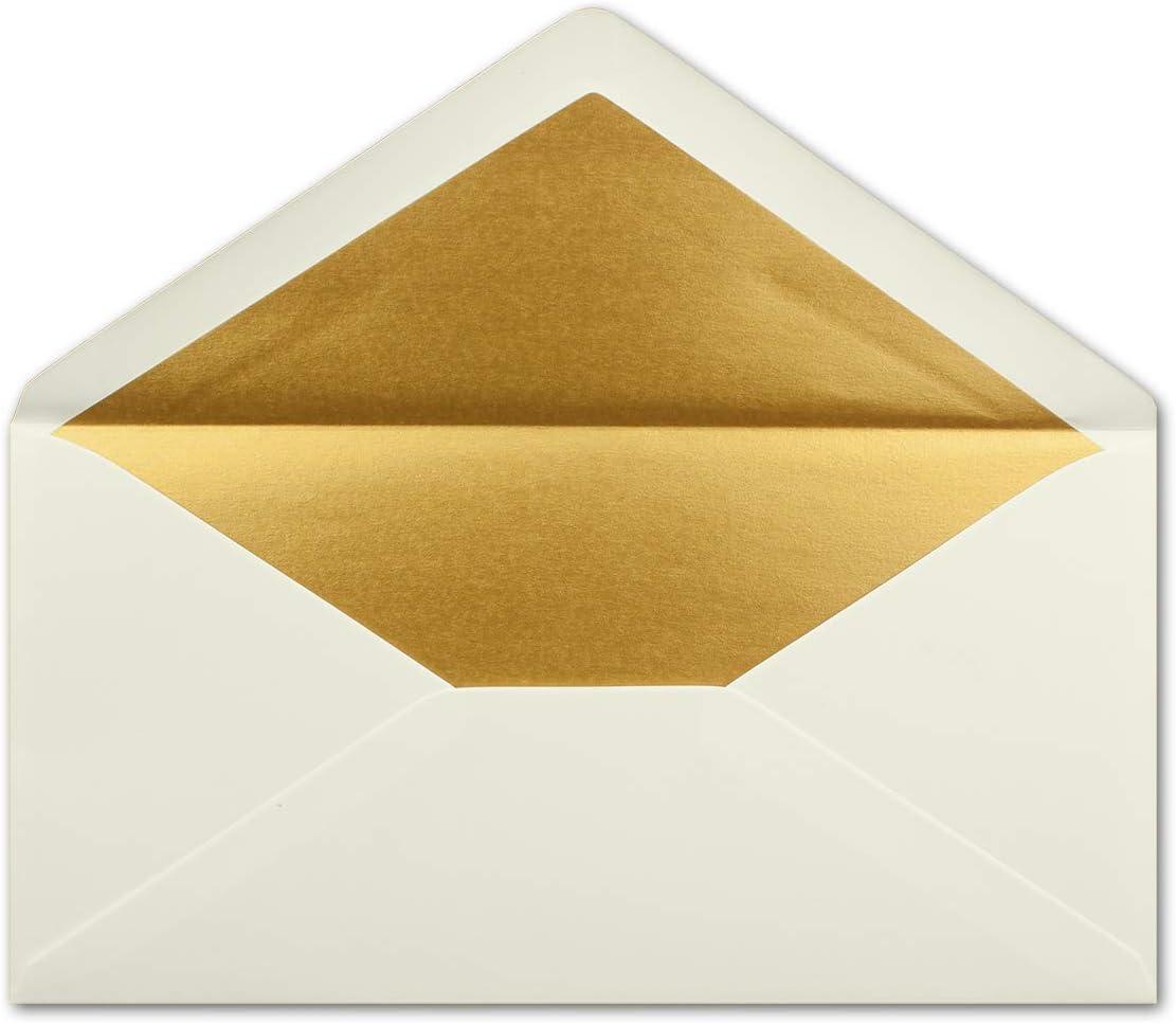 fodera oro argento metallizzato 15 Umschl/äge Anthrazit-Grau incollaggio a umido con gomma Buste DIN lungo Gold