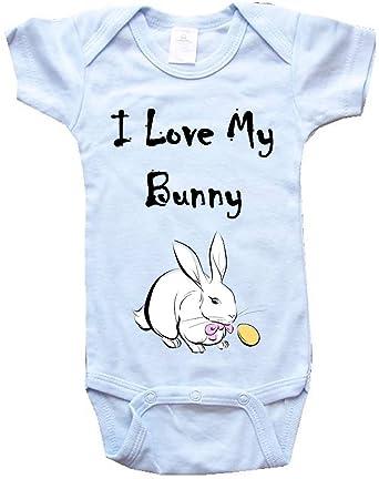 Amazon.com: I Love My Bunny – BigBoyMusic bebé una pieza ...