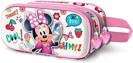 Estuche escolar doble 22 cm 3D Deluxe Minnie Disney We Rock: Amazon.es: Oficina y papelería