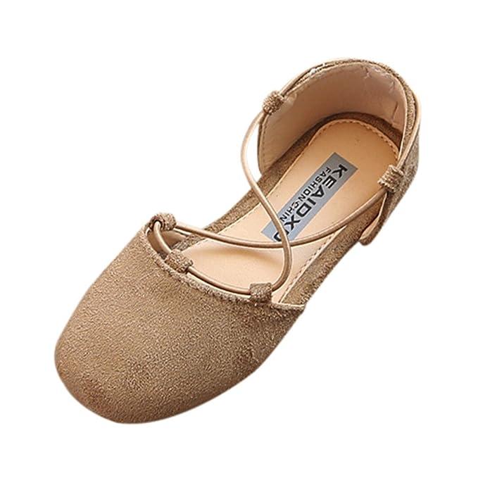 299b7185f4 YanHoo Zapatos para niños Zapatos Infantiles de Piel para niñas, Zapatos  Planos, Casuales Niños Niños Moda Bebé Sólido Zapatos Casuales Niñas  Princesa Plana ...
