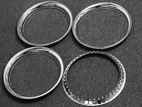 OxGord Trim Rings 16 inch diameter (Pack of 4) Chrome Steel Beauty Rims by OxGord (Image #3)